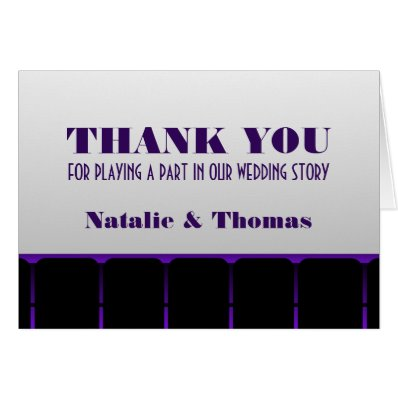 Movie Theater Thank You Card, Purple Card