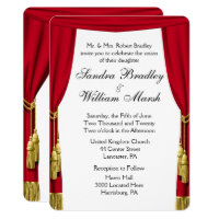 Movie  / Theater Theme Wedding Invitation