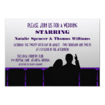 Movie Theater Wedding Invite, Purple