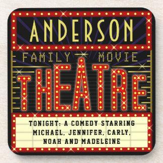 Movie Theatre Marquee Home Cinema | Custom Name Coaster