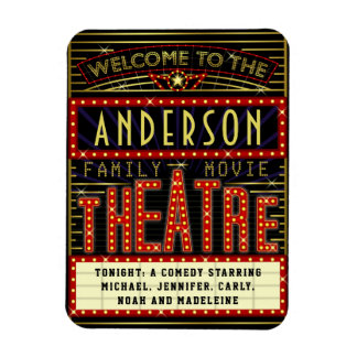Movie Theatre Marquee Home Cinema | Custom Name Magnet