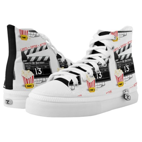 Movie Theme 13th Birthday High-Top Sneakers