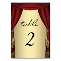 Movie Theme Gold Table Numbers