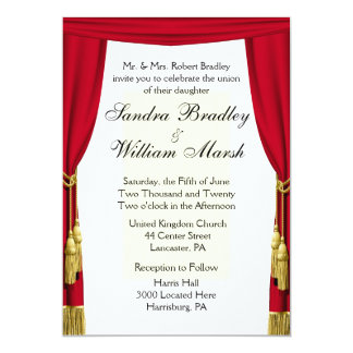 Movie Theme Wedding Card