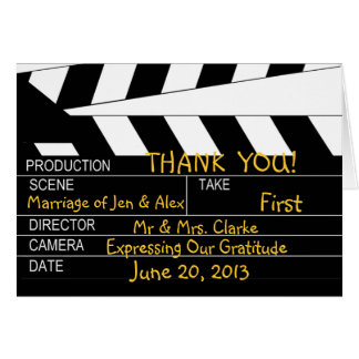 Movie Theme Wedding Thank You Greeting Cards