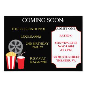 Movie Party Invitations Announcements Zazzle
