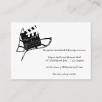 Movie Themed Silhouette Wedding Reception Card