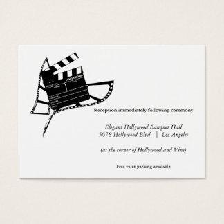Movie Themed Silhouette Wedding Reception Card