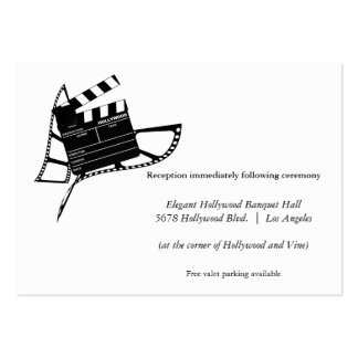 Movie Themed Silhouette Wedding Reception Card Large Business Cards (Pack Of 100)