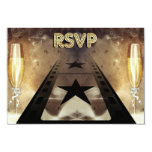 Movie Themed Wedding Response & Meal Card Personalized Invite