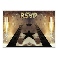 Movie Themed Wedding Response &amp; Meal Card Personalized Invite (<em>$1.96</em>)