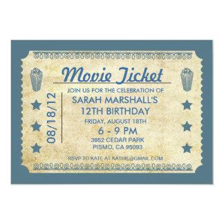 "Movie Ticket 5"" X 7"" Invitation Card"
