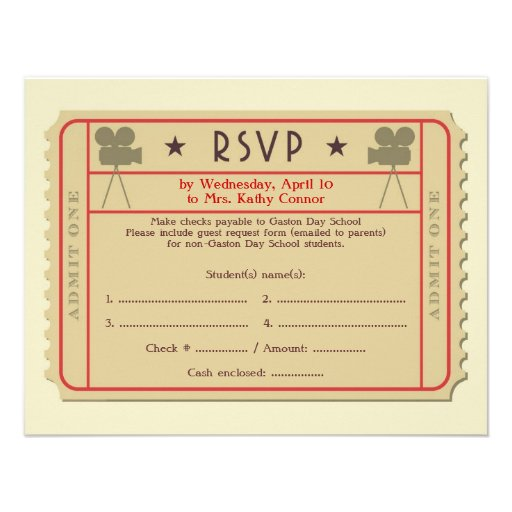 christmas party ticket template free – Movie Ticket Invitation Template Free Printable
