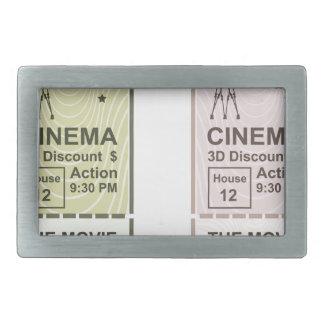 Movie Ticket Belt Buckle