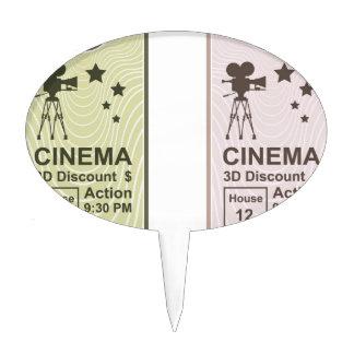 Movie Ticket Cake Topper