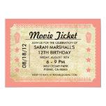 Movie Ticket Custom Announcements