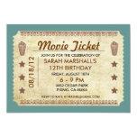 Movie Ticket Custom Invitations
