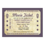 Movie Ticket Custom Invite