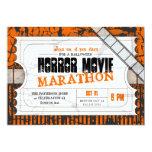 Movie Ticket Halloween Horror Movie Party 5x7 Paper Invitation Card