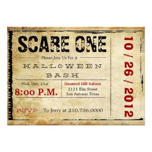 Movie Ticket Halloween Invitation
