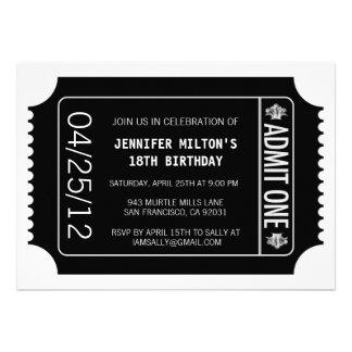 Movie Ticket Personalized Invite