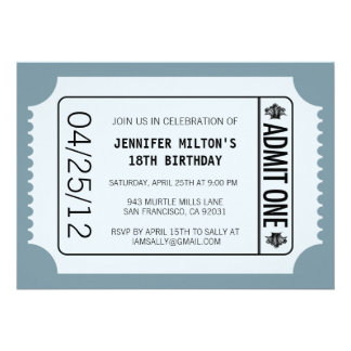 Movie Ticket Personalized Announcements