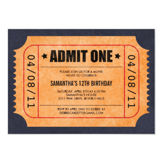Movie Ticket Invitations  Free Printable Movie Ticket Invitations