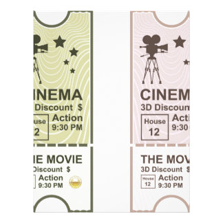 Movie Ticket Letterhead