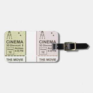Movie Ticket Luggage Tag