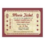 Movie Ticket Personalized Invitations