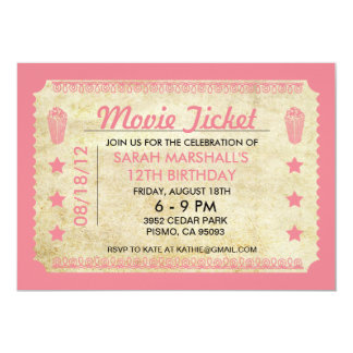 Movie Ticket Personalized Invites
