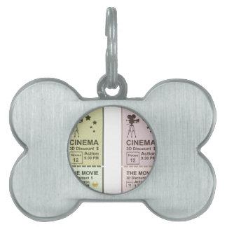 Movie Ticket Pet ID Tag