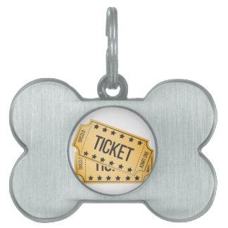 Movie Ticket Pet Tag