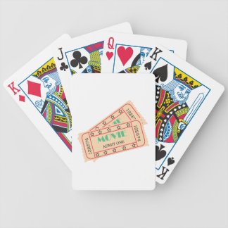 Movie Ticket Bicycle Playing Cards