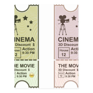 Movie Ticket Postcard