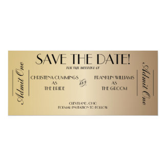 Movie Ticket Save the Date Announcement (Gold2)