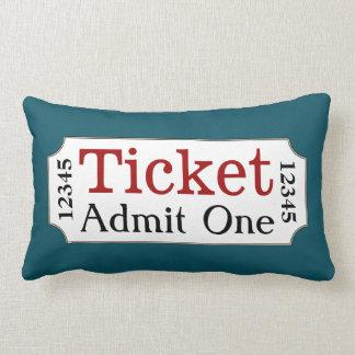 Movie Ticket Turquoise Cinema Pillow
