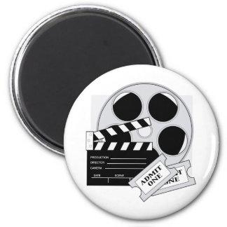 Movie Tickets 2 Inch Round Magnet