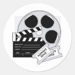 Movie Tickets Round Stickers