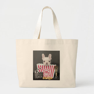 Movie time large tote bag