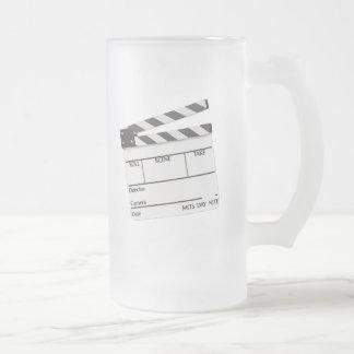 Movie Time Mug..! 16 Oz Frosted Glass Beer Mug