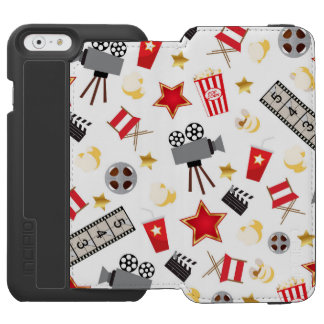 Movie Time Pattern iPhone 6/6s Wallet Case