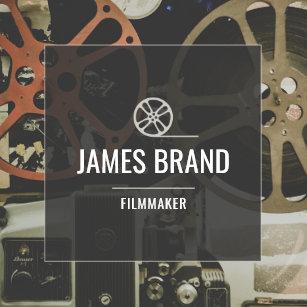 Filmmaker business cards templates zazzle movie video filmmaker square business card colourmoves Choice Image