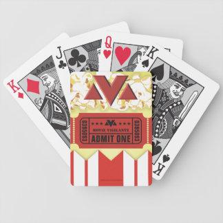 Movie Vigilante Movie Theater Bicycle Playing Cards