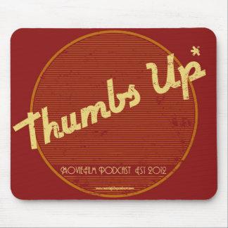 MovieFilm manosea el logotipo retro Mousepad de Up
