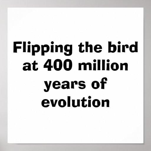 Moviendo de un tirón el pájaro en 400 millones de  póster