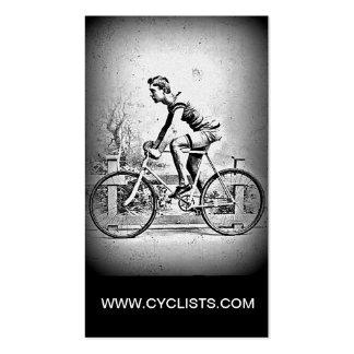 Moviendo encendido l ciclo monocromático del cicli plantilla de tarjeta de negocio