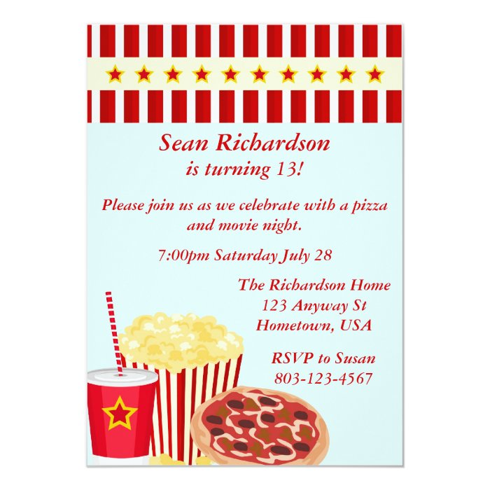Movienight Party Invites