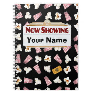 Movies and Popcorn Customizable Notebook