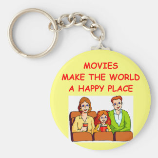 movies basic round button keychain